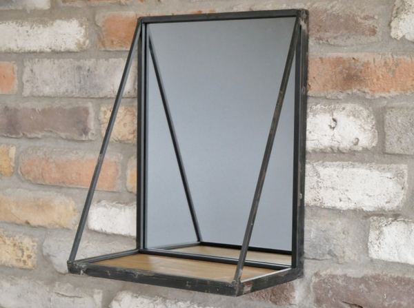 Mirror with Floating Shelf