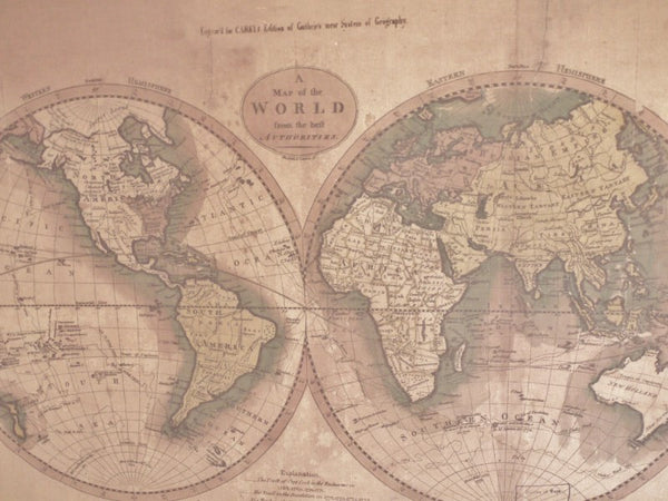World Map Picture ,  - Olive and Sage, Olive and Sage  - 2