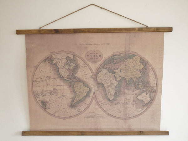 World Map Picture 2 Globes,  - Olive and Sage, Olive and Sage  - 1