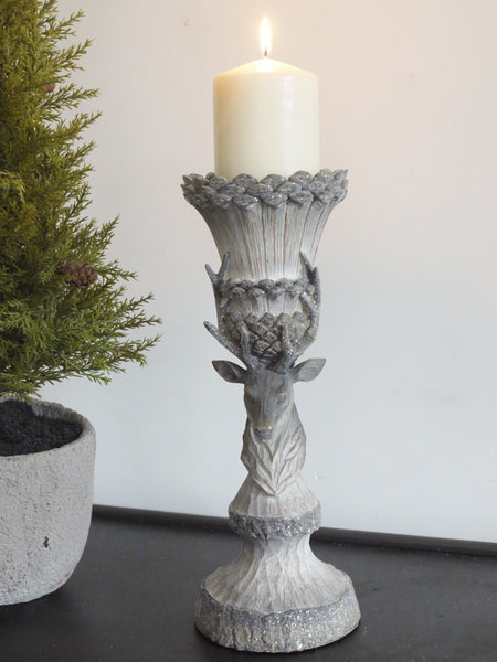 Rustic Stag Candle Holder Large,  - Olive and Sage, Olive and Sage  - 1