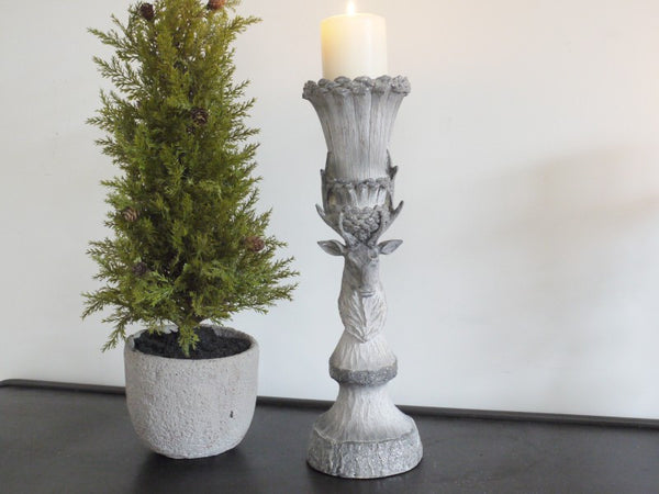 Rustic Stag Candle Holder Medium,  - Olive and Sage, Olive and Sage  - 7