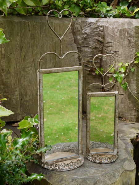 Set of 2 Garden Mirrors ,  - Olive and Sage, Olive and Sage  - 2