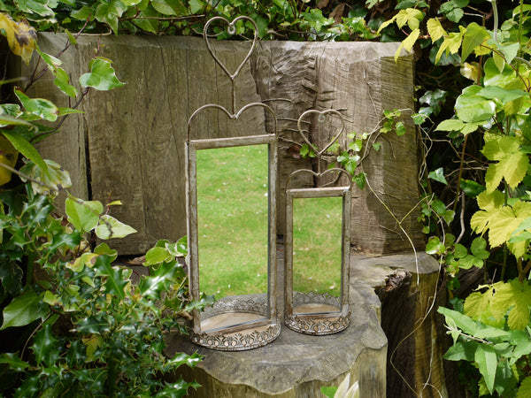 Set of 2 Garden Mirrors ,  - Olive and Sage, Olive and Sage  - 1