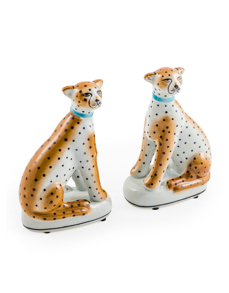Pair of Leopard Statues