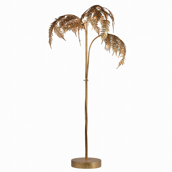 Gold Palm Leaf Floor Lamp - July Delivery