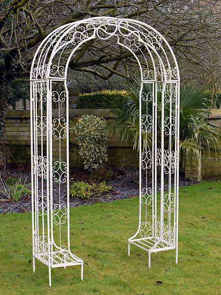Wrought Iron Fancy Garden Arch Olive And Sage