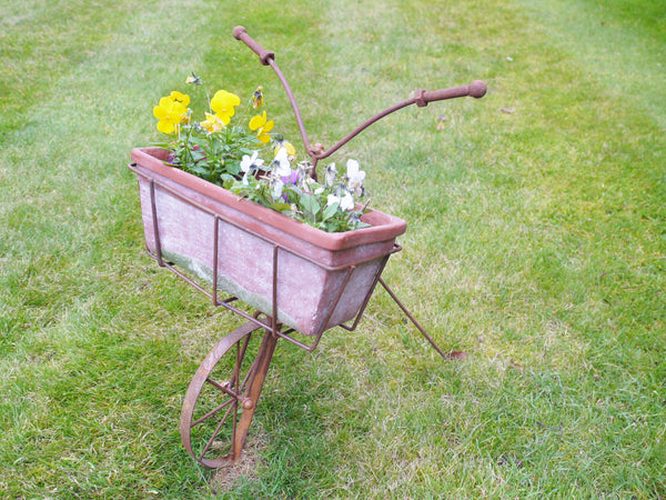 Rustic Bike Planter