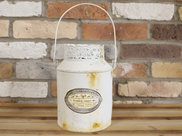 Shabby Chic Milk Churn