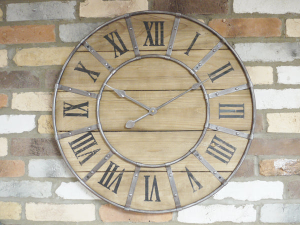 Rustic Wooden Clock