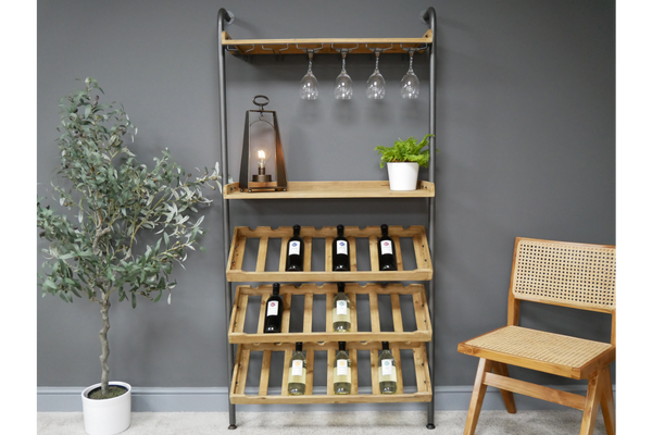 Lean To Wine Cabinet