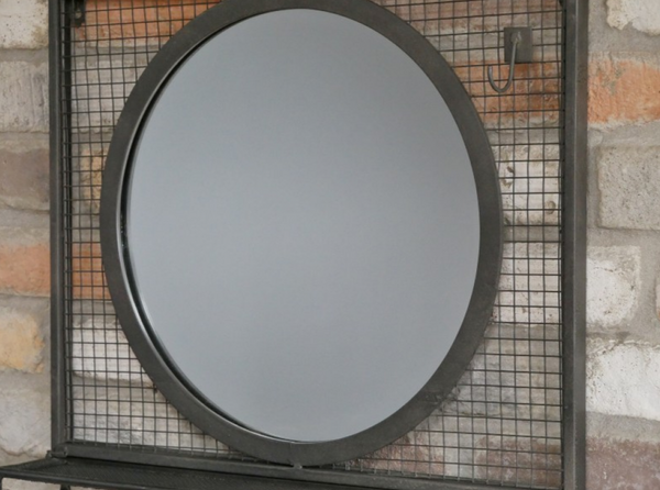 Mesh Mirror & Shelf