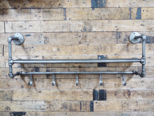 Pipe Shelf & Hooks