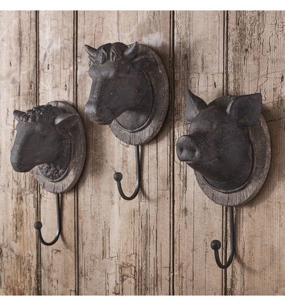 Rustic Farmyard Hook ,  - Olive and Sage, Olive and Sage  - 1