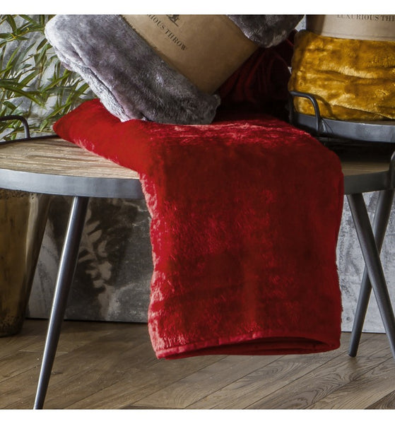 Dark Red Throw