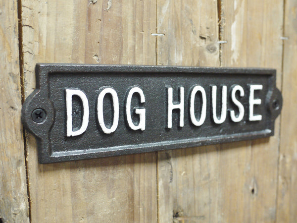 Cast Iron Dog House Plaque