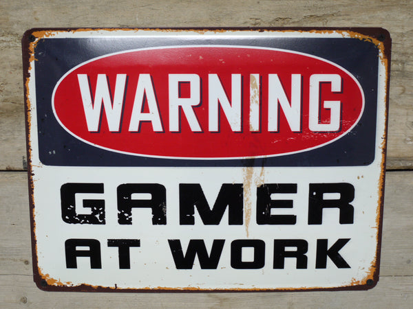 Gamer at Work Plaque
