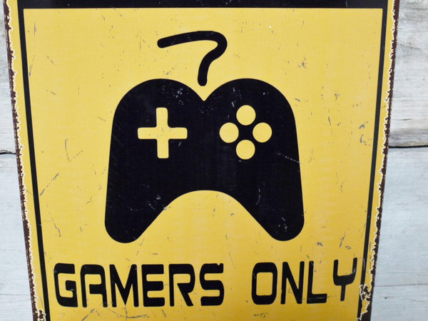 Gamers Only Plaque
