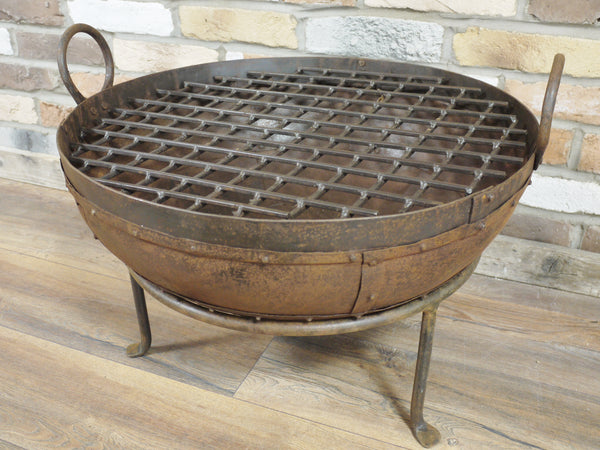 Antiqued Fire Pit on Stand
