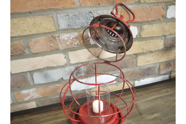 Red Industrial Lantern