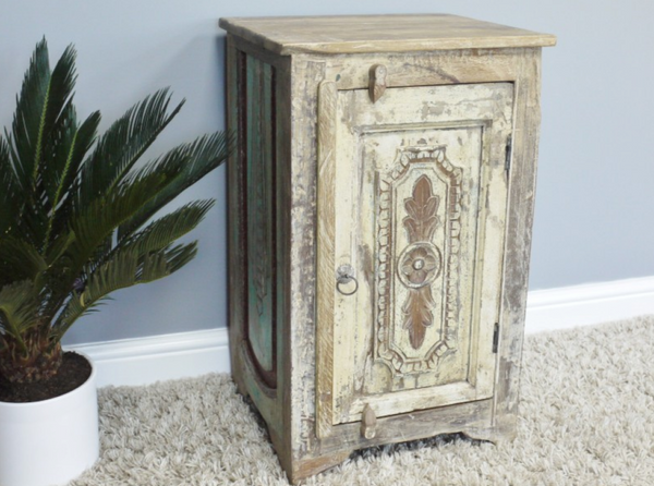 Antiqued Bedside Cabinet