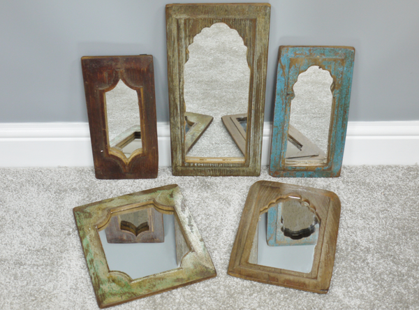 Set of 5 Indian Mirrors