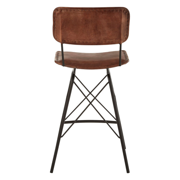 Buffalo Leather Bar Chair