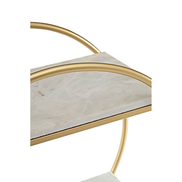 Round Gold & Marble Table