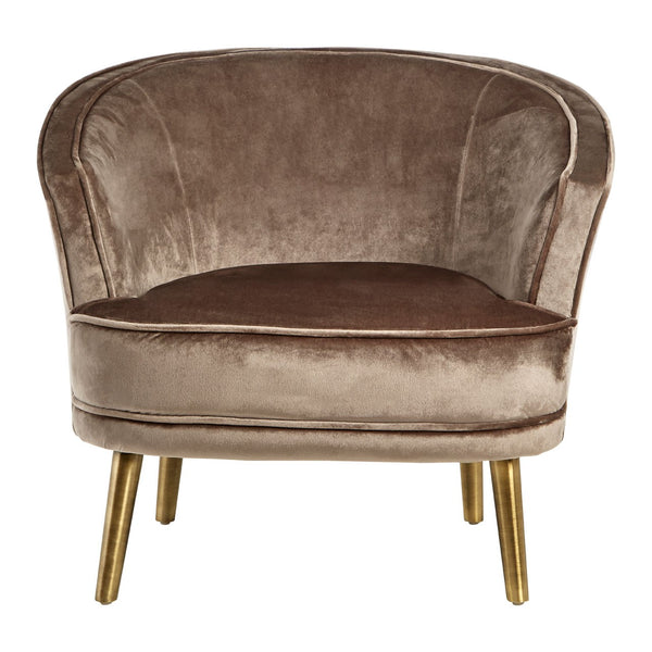 Taupe Velvet Chair