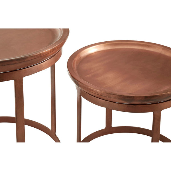 Set Of 2 Copper Tables
