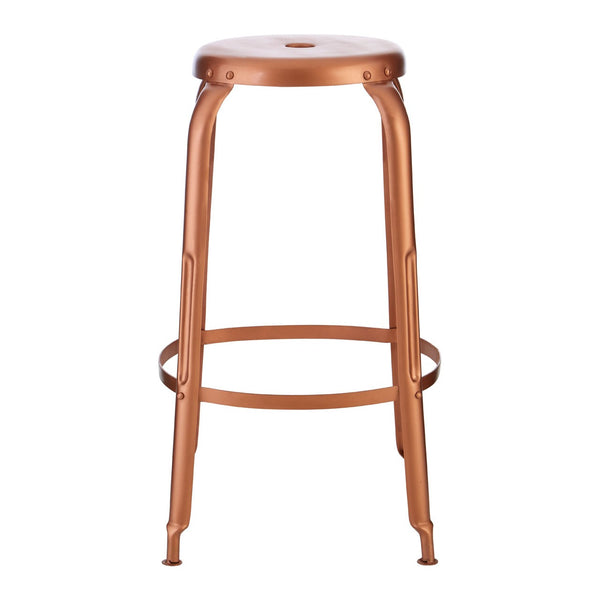Crest Copper Finish Iron Bar Stool