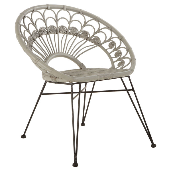 Grey Scalloped Chair