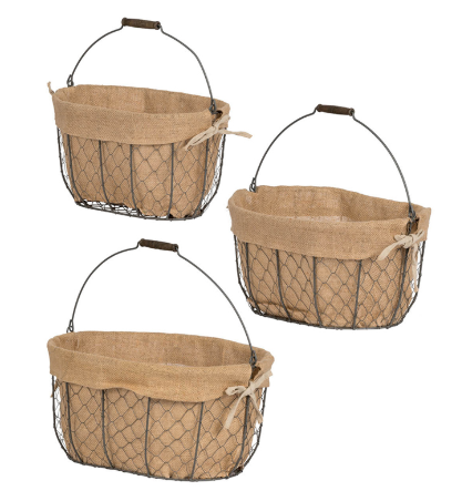 Set of 3 Wire Baskets
