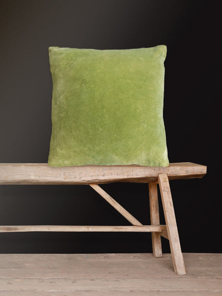 Lime Velvet Cushion