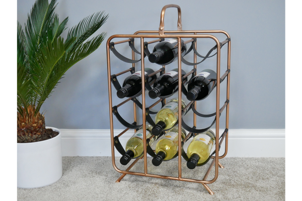 Copper Wine Rack