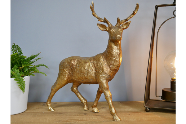 Gold Stag Statue