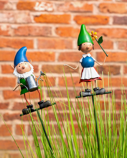 Pair of Gnome Garden Stakes