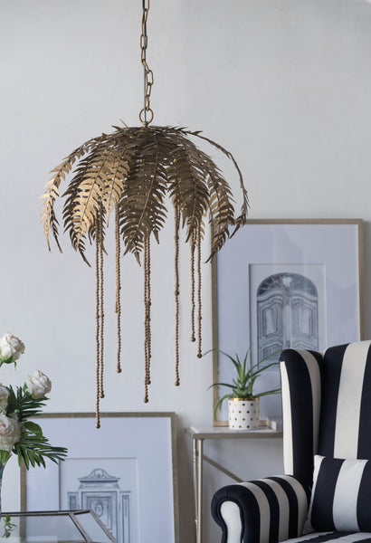 Gold Palm Leaf Chandelier