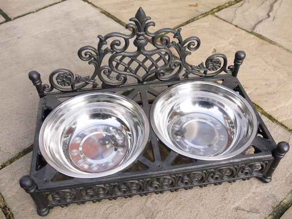 Cast Iron Dog/Cat Bowls Large,  - Olive and Sage, Olive and Sage  - 2