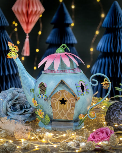 Blue Fairy Teapot House