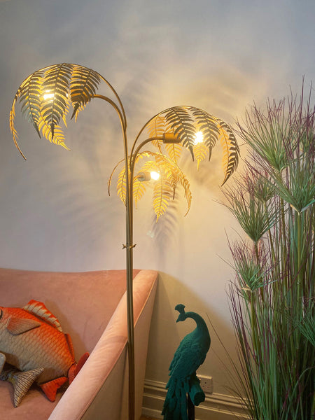 Gold Palm Floor Lamp - Clearance