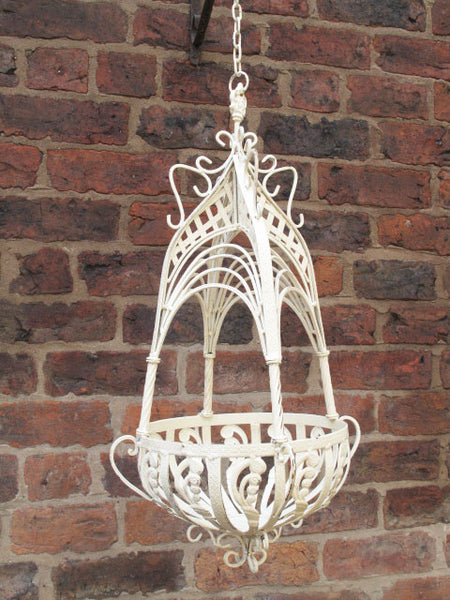 Ornate Hanging Basket Medium,  - Olive and Sage, Olive and Sage  - 1