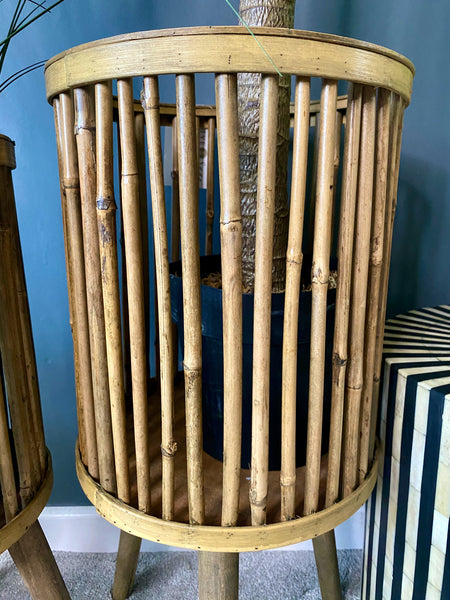 Set of 2 Bamboo Planters