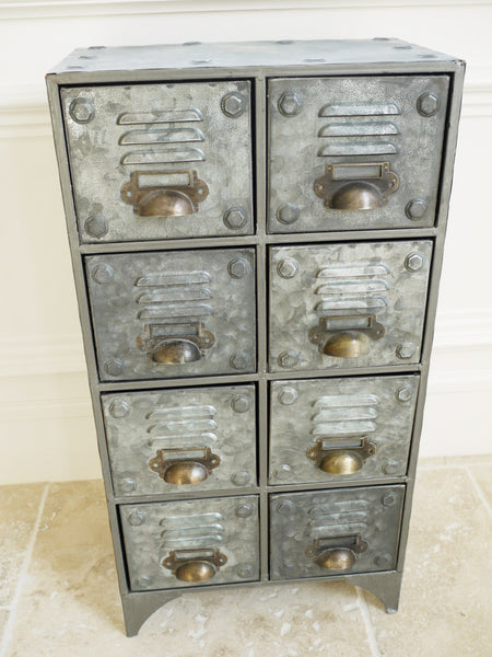 Small Industrial 8 Drawer Unit ,  - Olive and Sage, Olive and Sage
