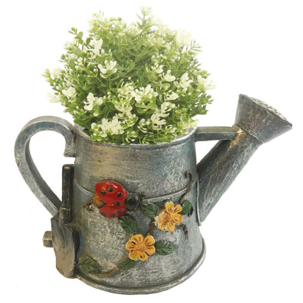 Grey Watering Can Planter