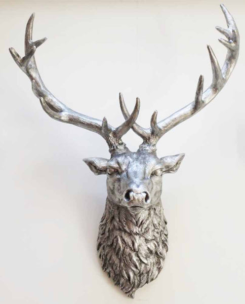 Silver Deer Head ,  - Olive and Sage, Olive and Sage