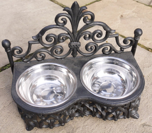 Cast Iron Dog/Cat Bowls Small,  - Olive and Sage, Olive and Sage  - 1