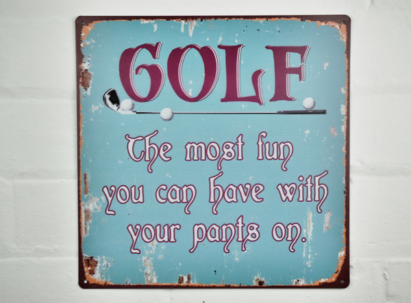 Golf Wall Plaque