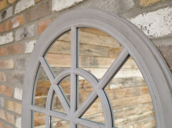 Aged Arched Mirror