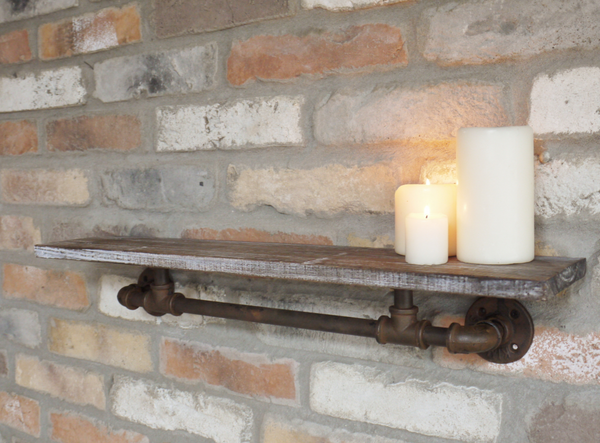 Rustic Pipe Shelf