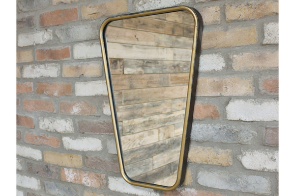 Retro Gold Mirror